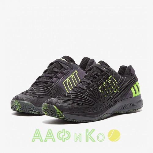 Кроссовки теннисные мужские Wilson KAOS 2.0  (зелёный/чёрный)