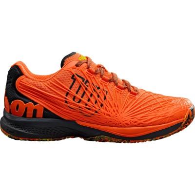 Кроссовки теннисные мужские Wilson KAOS 2.0  (оранжевый/чёрный)