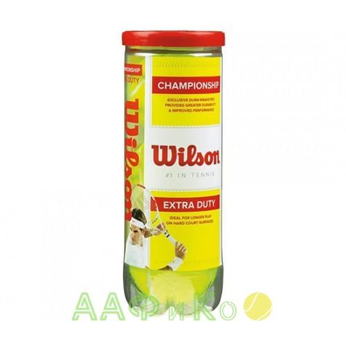 Мячи теннисные Wilson CHAMPIONSHIP EXTRA DUTY 3 шт.в упак. (WRT100101)