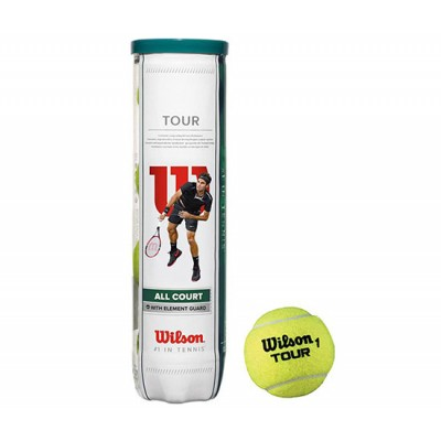 Мячи  теннисные Wilson Tour All Court  4 шт. в упак.  (WRT115700)