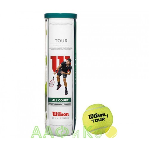 Мячи  теннисные Wilson Tour All Court  4шт. в упак.  (WRT115700)