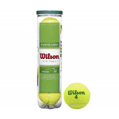 Мячи теннисные Wilson Stalter Green Tball 4 шт. в упак. (WRT137400)
