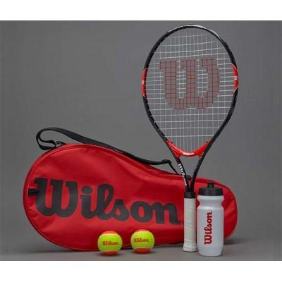 Набор для тенниса Wilson Roger Federer 25 Starter Set (ракетка, 2 оранж. мяча, бутылка)  (WRT214000)