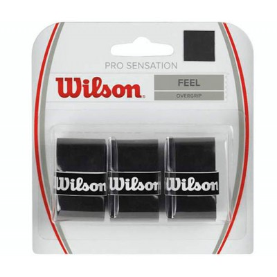 Обмотка для т/ракеток Wilson Pro Overgrip Sensation (3шт.в уп.) чёрный