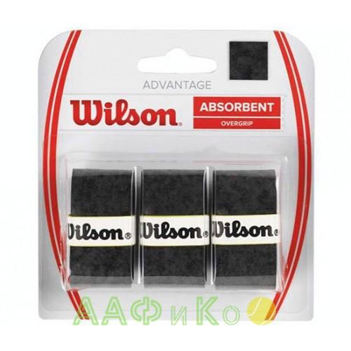 Обмотка,намотка для т/ракеток Wilson Advantage Overgrip (3шт.в уп.), чёрный