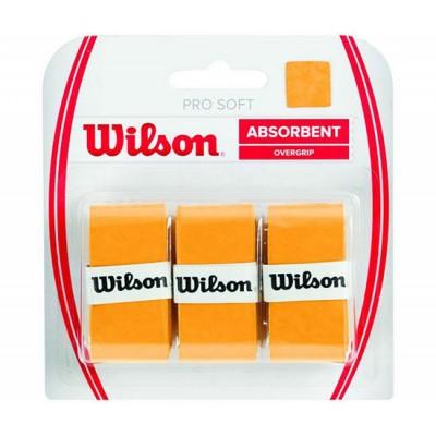 Обмотка для т/ракеток Wilson Pro Soft Overgrip (3шт.в уп.) золотой