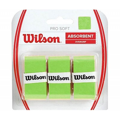 Обмотка для т/ракеток Wilson Pro Soft Overgrip (3шт.в уп.) зелёный