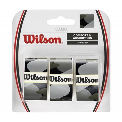 Обмотка для т/ракеток Wilson Camo Overgrip (3шт.в уп.) чёрный