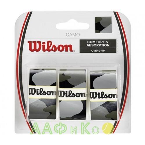 Обмотка,намотка для т/ракеток Wilson Camo Overgrip (3шт.в уп.) чёрный