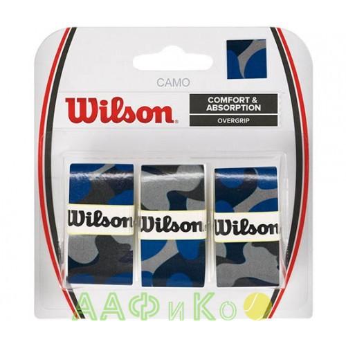 Обмотка,намотка для т/ракеток Wilson Camo Overgrip (3шт.в уп.) синий