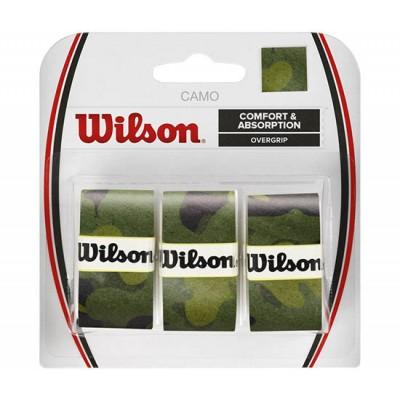Обмотка для т/ракеток Wilson Camo Overgrip (3шт.в уп.) зелёный