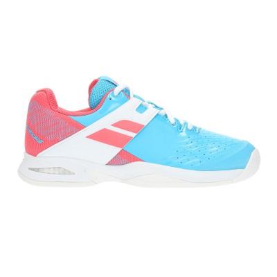 Кроссовки теннисные Babolat PROPULSE ALL COURT JR (небесно-голубой/розовый)
