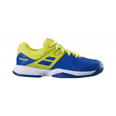 Кроссовки теннисные Babolat PULSION CLAY JR (синий/ярко-жёлтый)