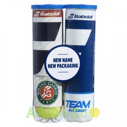 Мячи  теннисные  Babolat Bipack French Open All Court/Team All Court (4+4 мяча в тубе)