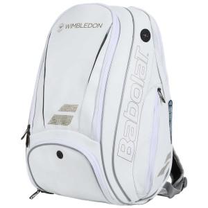 Рюкзак-сумка для теннисных ракеток  Babolat BACKPACK PURE WIMBLEDON (белый/золотой) (753079-316)