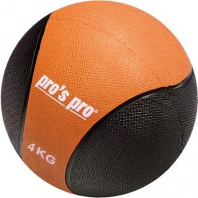 Мяч набивной (медицинбол) Medizinball черно/оранжевый  4 кг