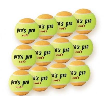 Мячи теннисные Pros pro  12шт желто/оранжевые