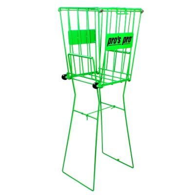 Корзина Pros Pro для теннисных мячей Ballkorb  72 с колесиками зеленая