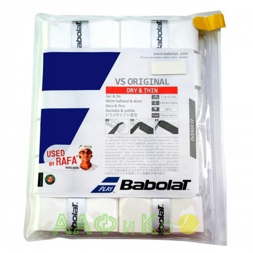 Намотка Babolat TOUR ORIGINAL X12 (белый) 12 шт.