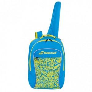 Рюкзак-сумка для теннисных ракеток Babolat BACKPACK JUNIOR CLUB (синий/лимонно-жёлтый)