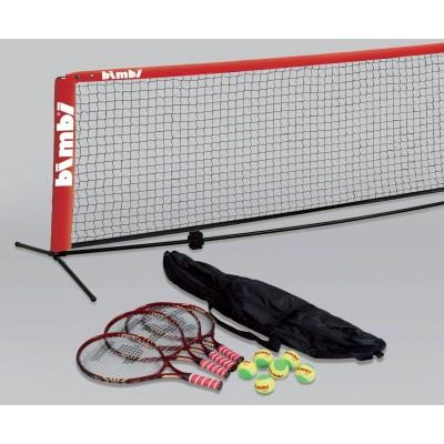 Сетка + набор ракетки, мячи, Bimbi Small Court Tennis Net, 6.1 m School Set